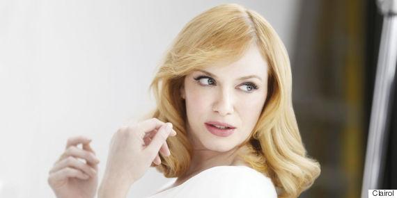 christina hendricks clairol blonde
