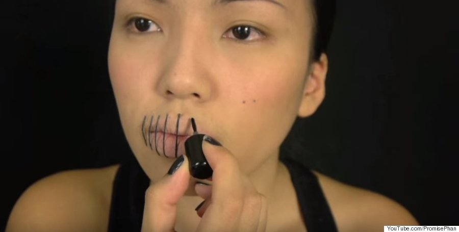 Maquillage bouche cousue simple - Maquillage halloween bouche ...