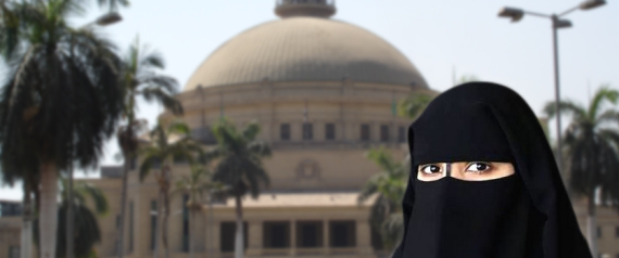 VEILED IN CAIRO UNIVERSITY IN EGYPT