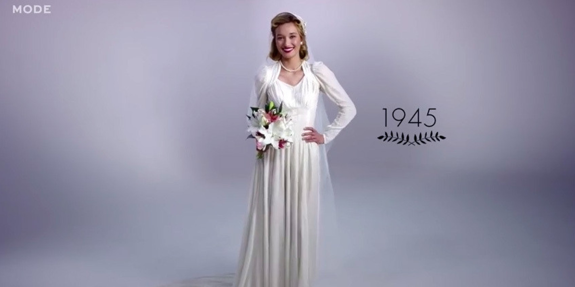 Wedding Dress For 40 Year Old Brides: WATCH: 100 Years Of Wedding Dresses In Under 3 Minutes