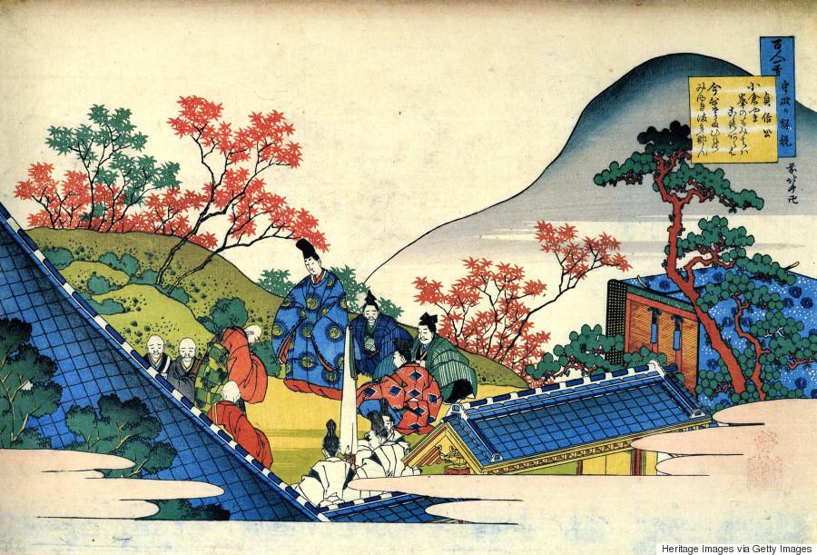 print japanese monk