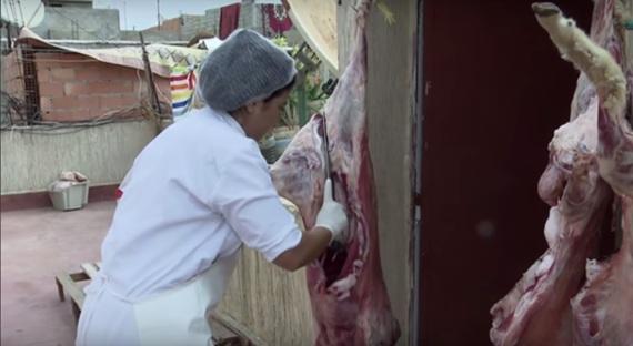 moroccan female butcher