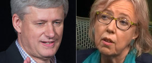 STEPHEN HARPER ELIZABETH MAY