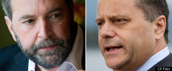 THOMAS MULCAIR BRIAN TOPP NDP LEADERSHIP RACE