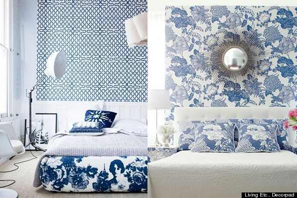 Decorating With Blue And White color diary: decorating blue and white rooms (video) | huffpost
