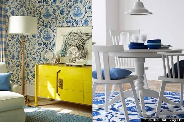 Blue And White Toile Bedroom: Color Diary: Decorating Blue And White Rooms (VIDEO