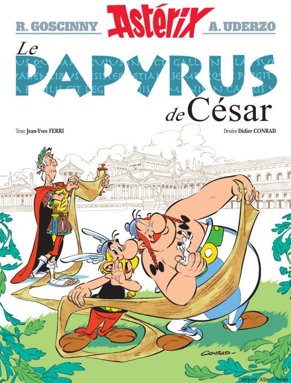 asterix papyrus cesar couverture