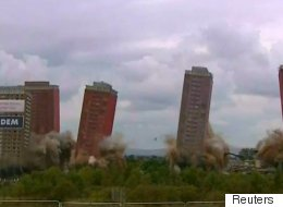 Glasgow's Red Road Flats Come Tumbling Down In Live Demolition