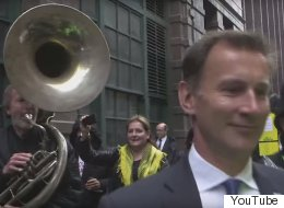 Jeremy Hunt Got Trolled By A Sousaphone Again And It Was As Funny As It Sounds