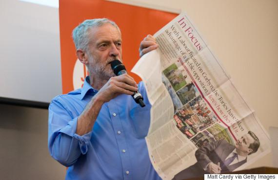 uk newspapers jeremy corbyn
