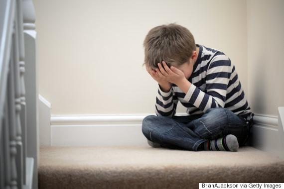 sad child alone