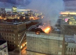 Firefighters Battle Huge Blaze In Manchester City Centre