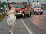 Selfless Paramedic Bride Rushes To Crash Still In Her Wedding Dress