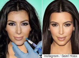Kardashian Faces Scrutunised By Instagram Artist Saint Hoax In Time-Lapse Video