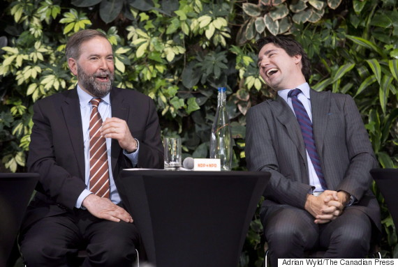 thomas mulcair justin trudeau