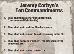Jeremy Corbyn's Ten Commandments
