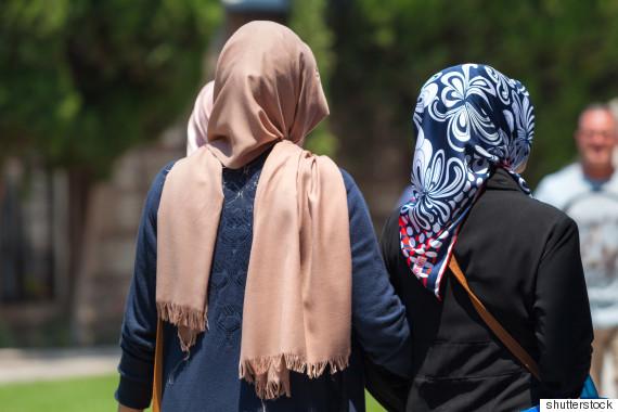 muslim woman walking