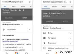 Google donne aux Canadiens des informations faciles d'accès sur les élections