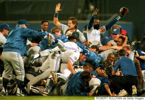 blue jays 1992 world series celebration