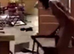 Naked Woman High On Spice Destroys Subway Sandwich Shop