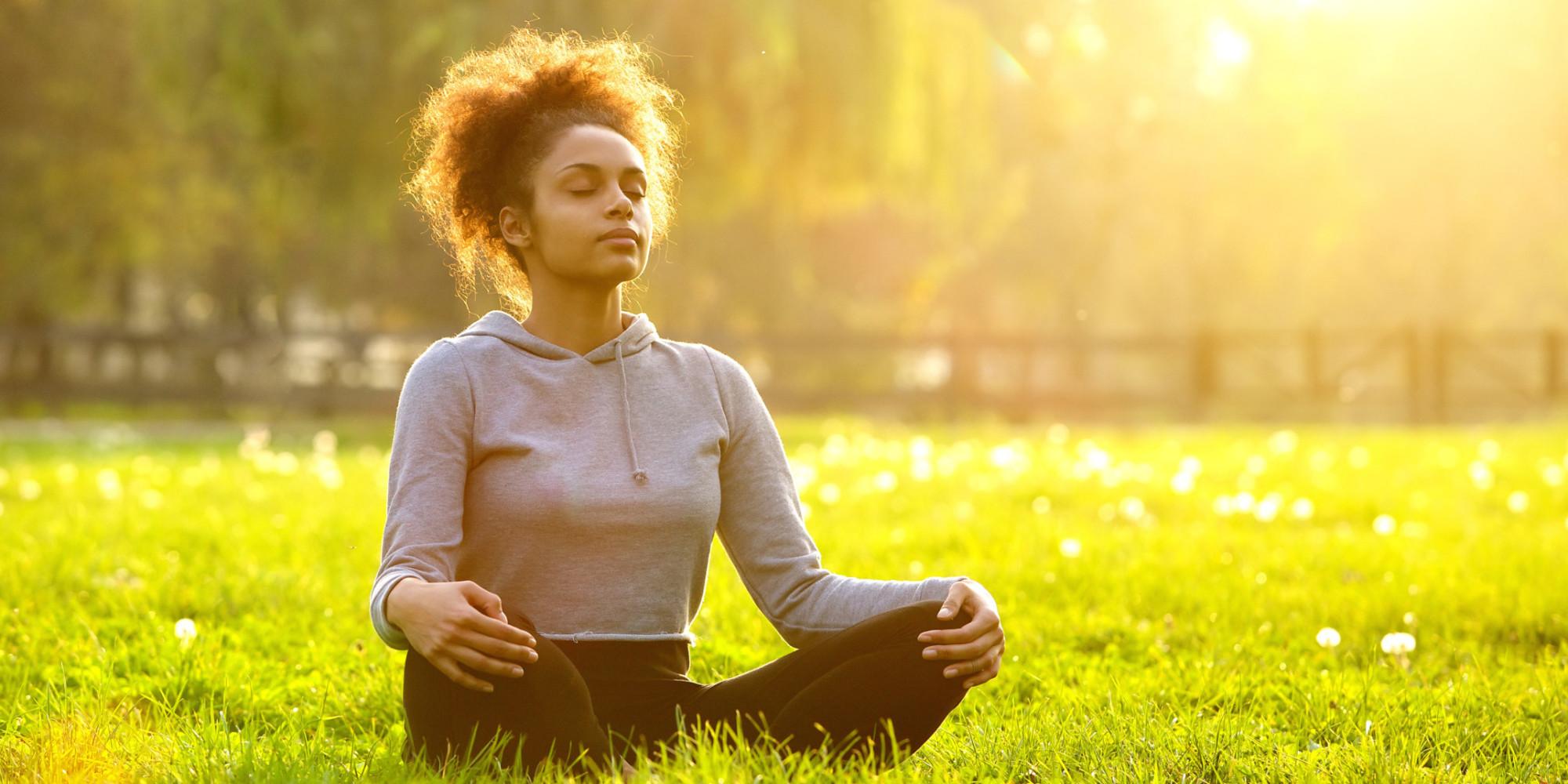 Image result for black people meditating