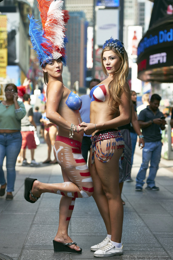 from Griffin hot naked girl at times square