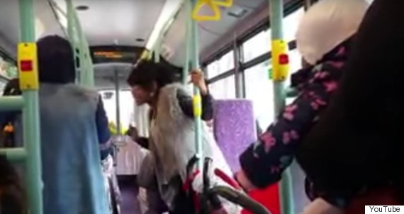 racist lady bus