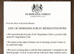 REVEALED: David Cameron's List Of Demands For The EU Negotiations