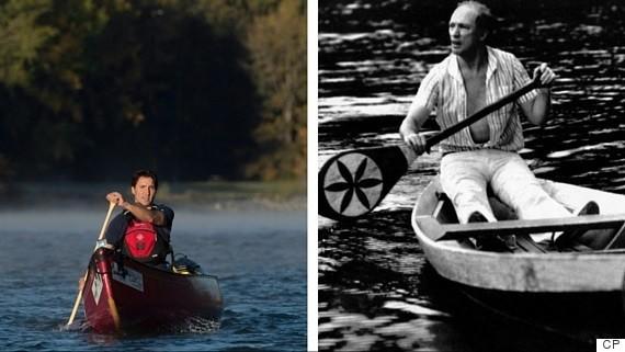 trudeau canoe