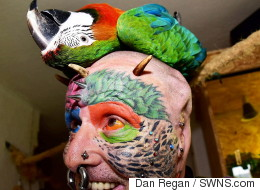 Man Has Ears Cut Off So He Looks More Like His Pet Parrots