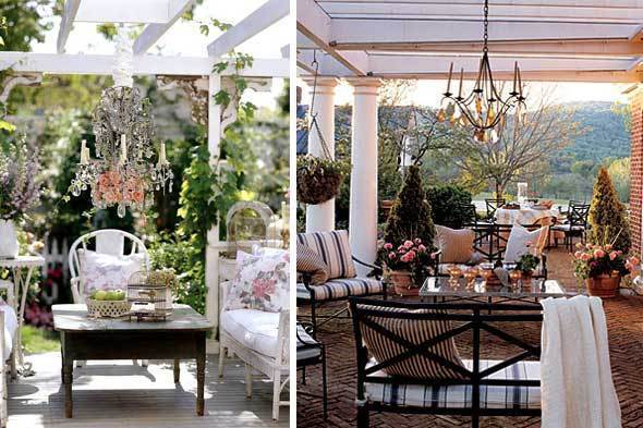 Bright Idea: Chandelier On The Porch