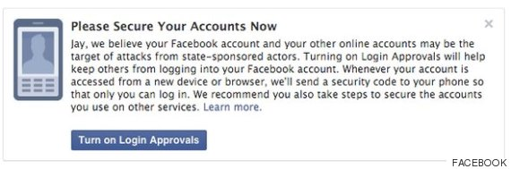 facebook notifications for targeted attacks