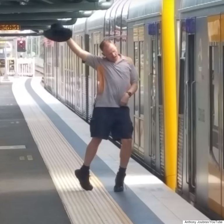 dancing train guard australia