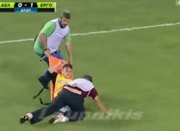This Is Why You Never Want To Get Injured In A Greek Football Match...