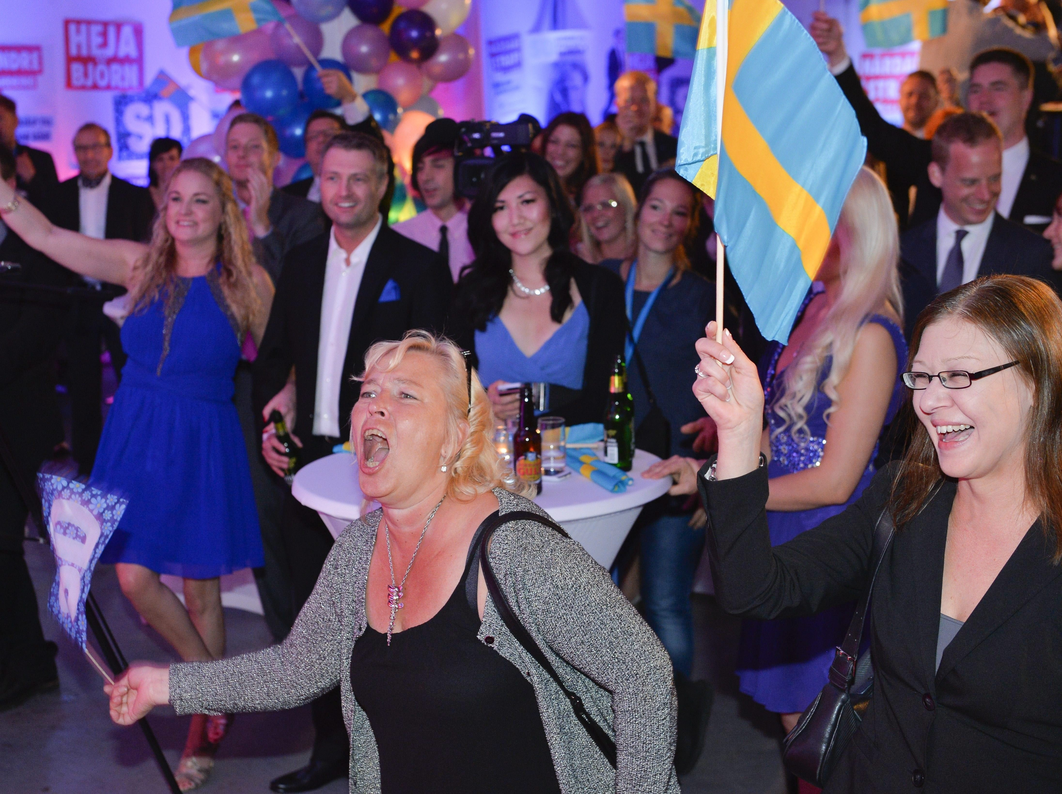 farright sweden democrats in stockholm