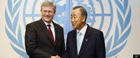 STEPHEN HARPER UNITED NATIONS LIBYAN MISSION