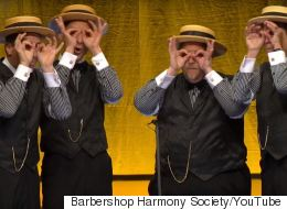 Barbershop Quartet Performs Amazing Medley Of Modern Pop Songs