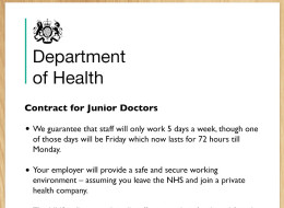 LEAKED: The NHS's Junior Doctor Contract