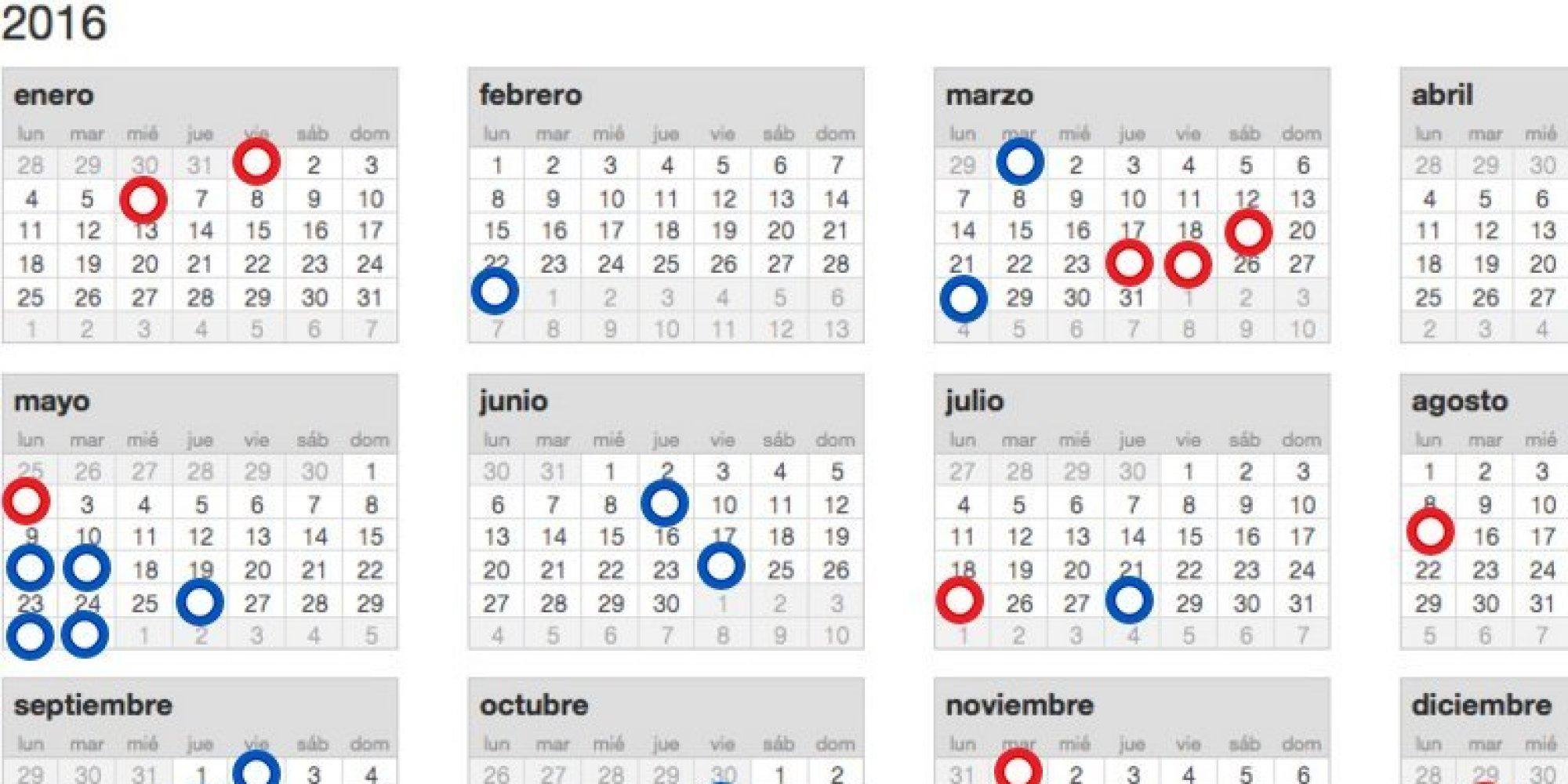 Calendario laboral 2016: estos son los días festivos