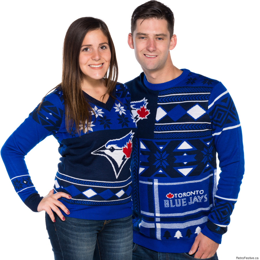blue jays christmas sweater