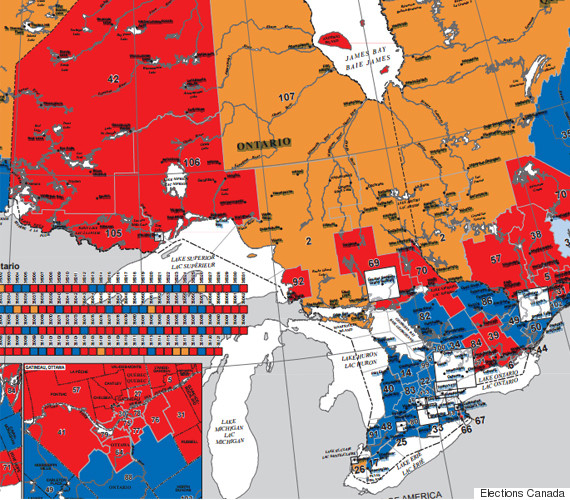 Canada Election Map Before And After Canadians Voted - Map of quebec canada