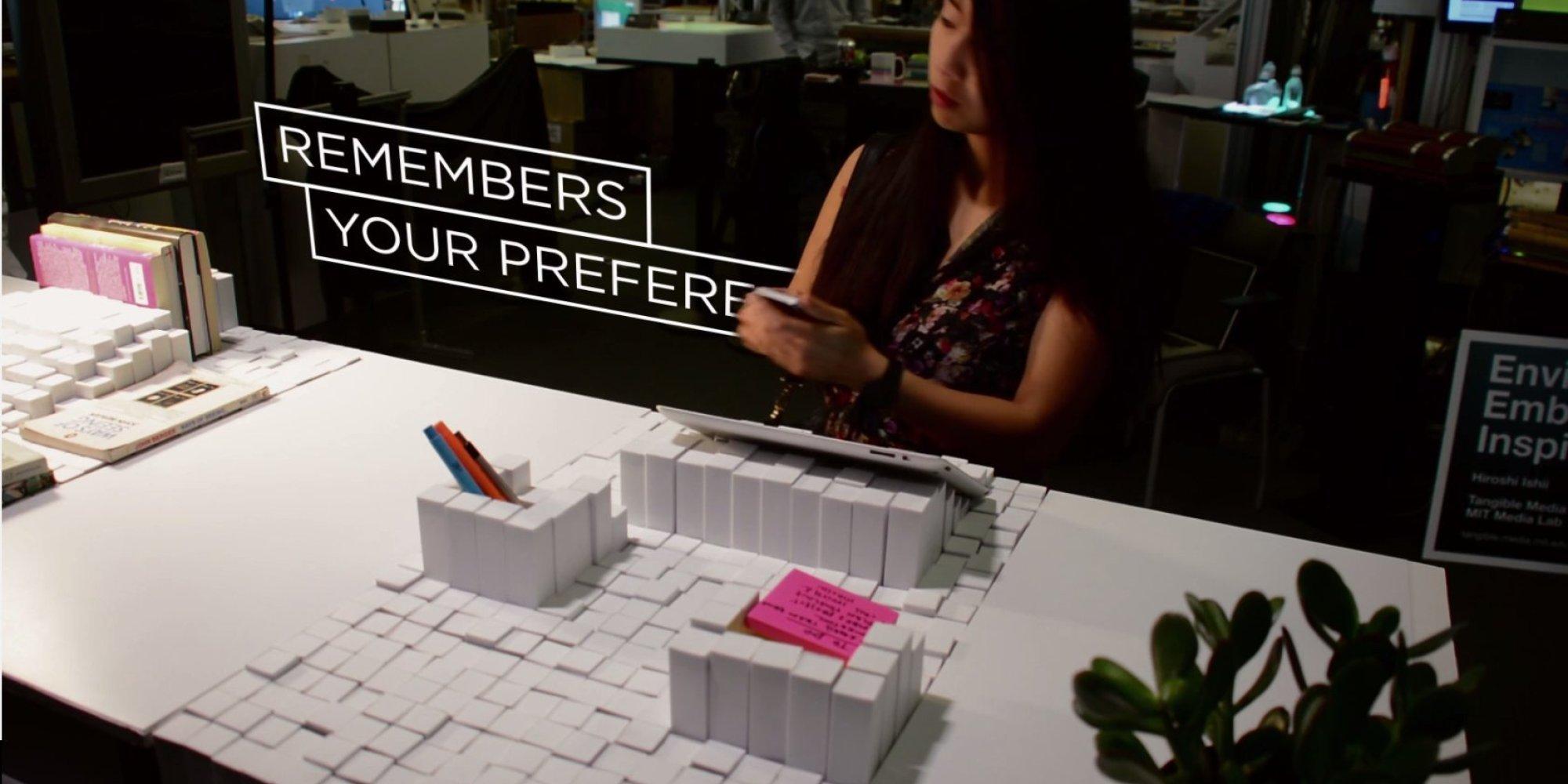 le bureau modulable de demain imagin par le mit vid os. Black Bedroom Furniture Sets. Home Design Ideas
