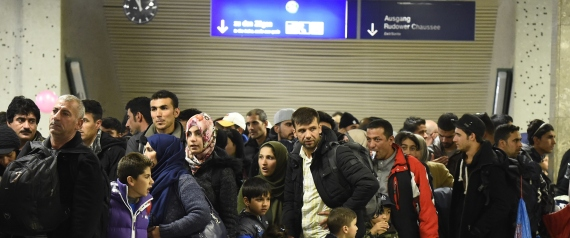 REFUGEES IN GERMANY IN AIRPORT