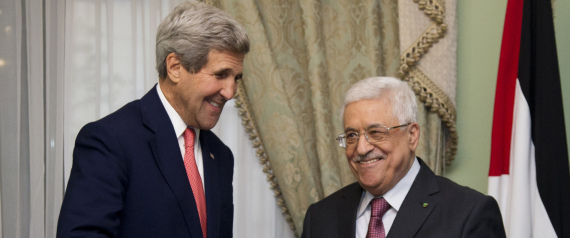 US SECRETARY OF STATE JOHN KERRY AND ABBAS