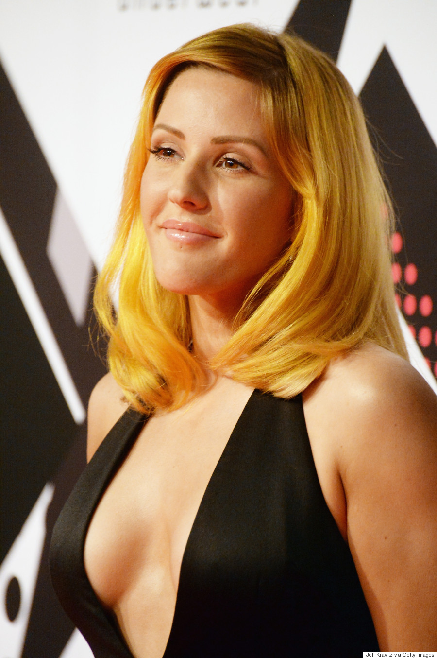 ellie goulding shows off new vibrant orange hair on the 2015 mtv