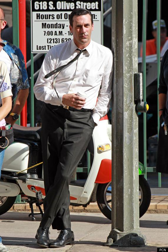 Jon Hamm Amp John Slattery Return To Mad Men Set Photos