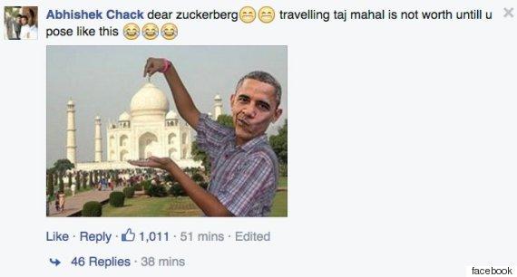taj mahal zuckerberg