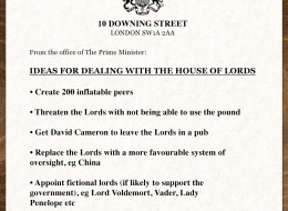 LEAKED: David Cameron's Plans For Dealing With The House Of Lords