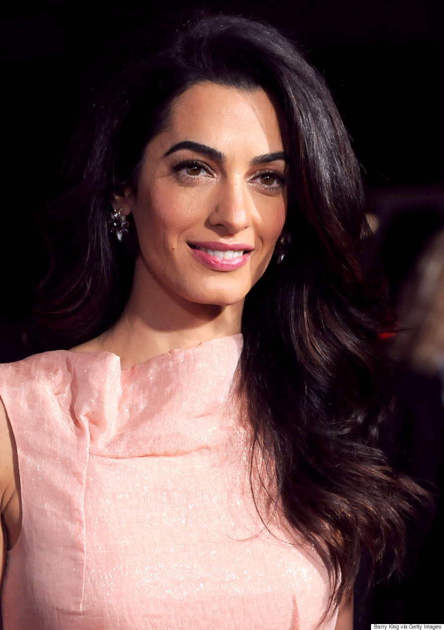 Amal Clooney Is Pretty In Pink At Our Brand Is Crisis