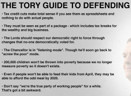 The Tory Guide To Defending Tax Credit Cuts